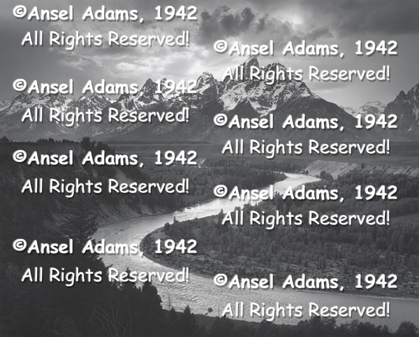 Ansel Adams Copyright