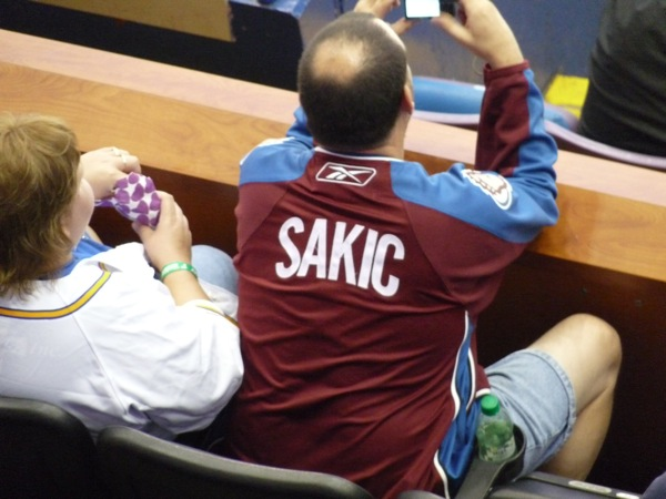 Sakic Jersey No Number